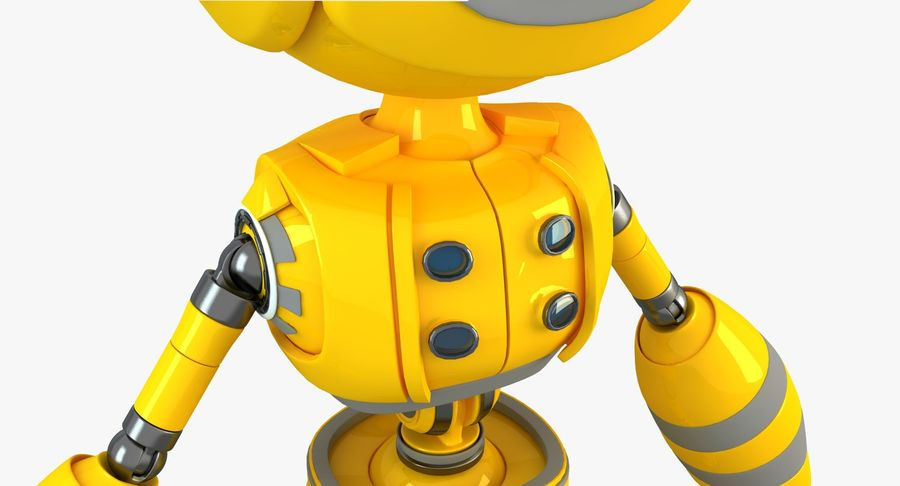 ロボットANDROID royalty-free 3d model - Preview no. 6