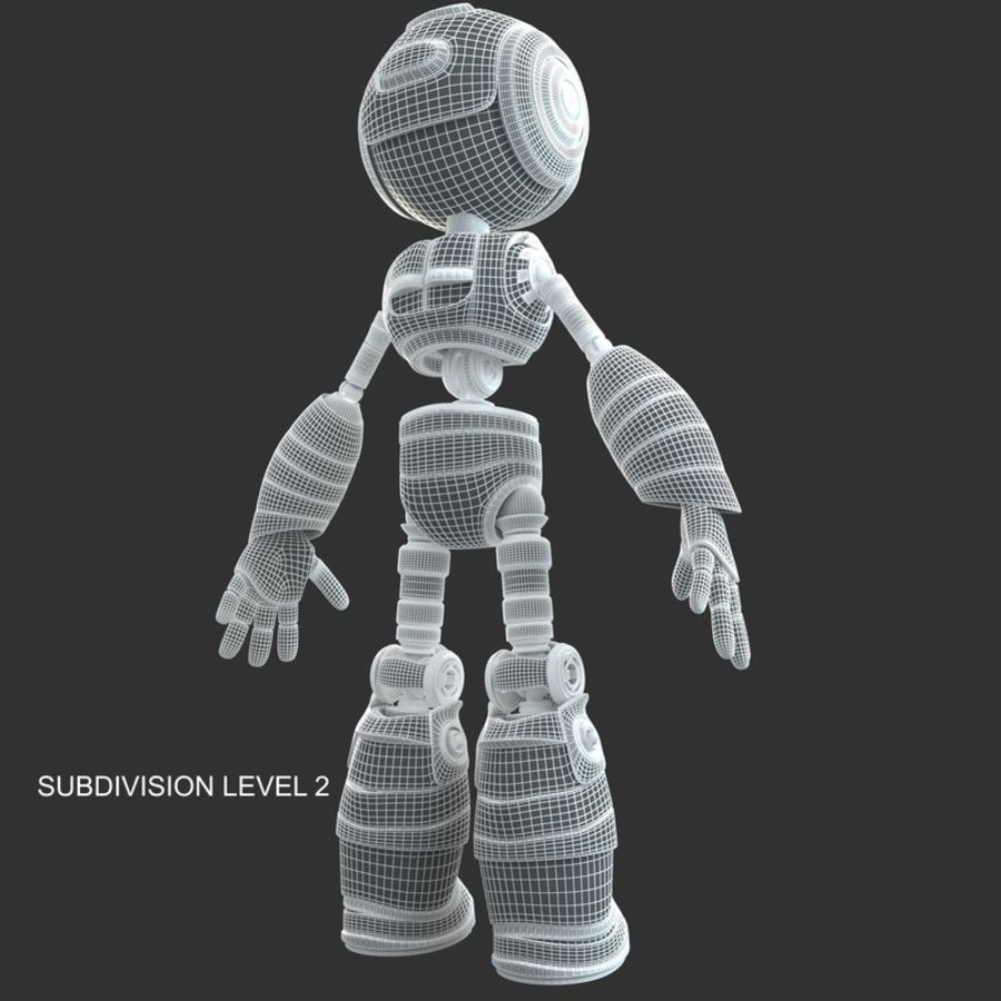 ロボットANDROID royalty-free 3d model - Preview no. 16