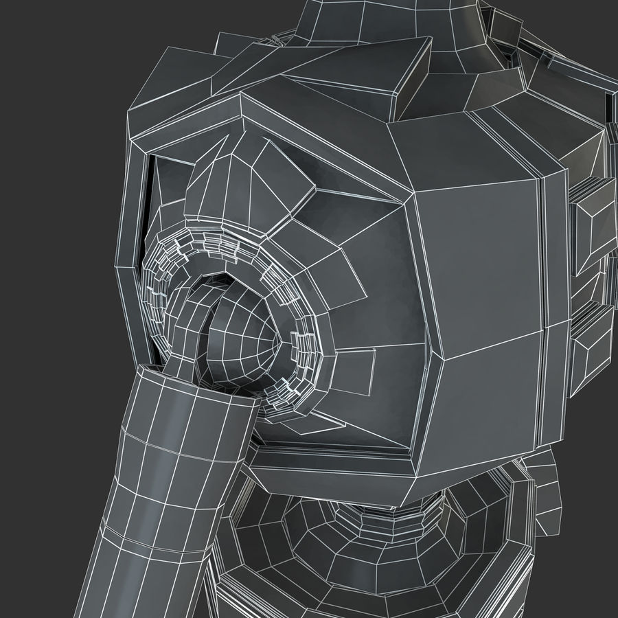 ロボットANDROID royalty-free 3d model - Preview no. 21
