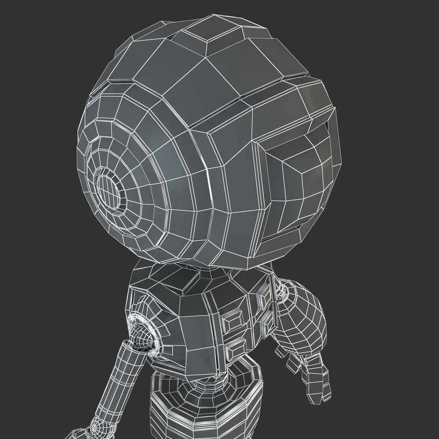 ロボットANDROID royalty-free 3d model - Preview no. 18