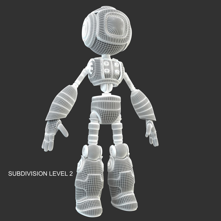 ロボットANDROID royalty-free 3d model - Preview no. 15