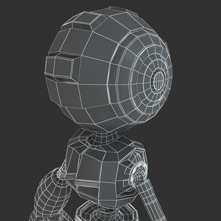 ロボットANDROID royalty-free 3d model - Preview no. 19