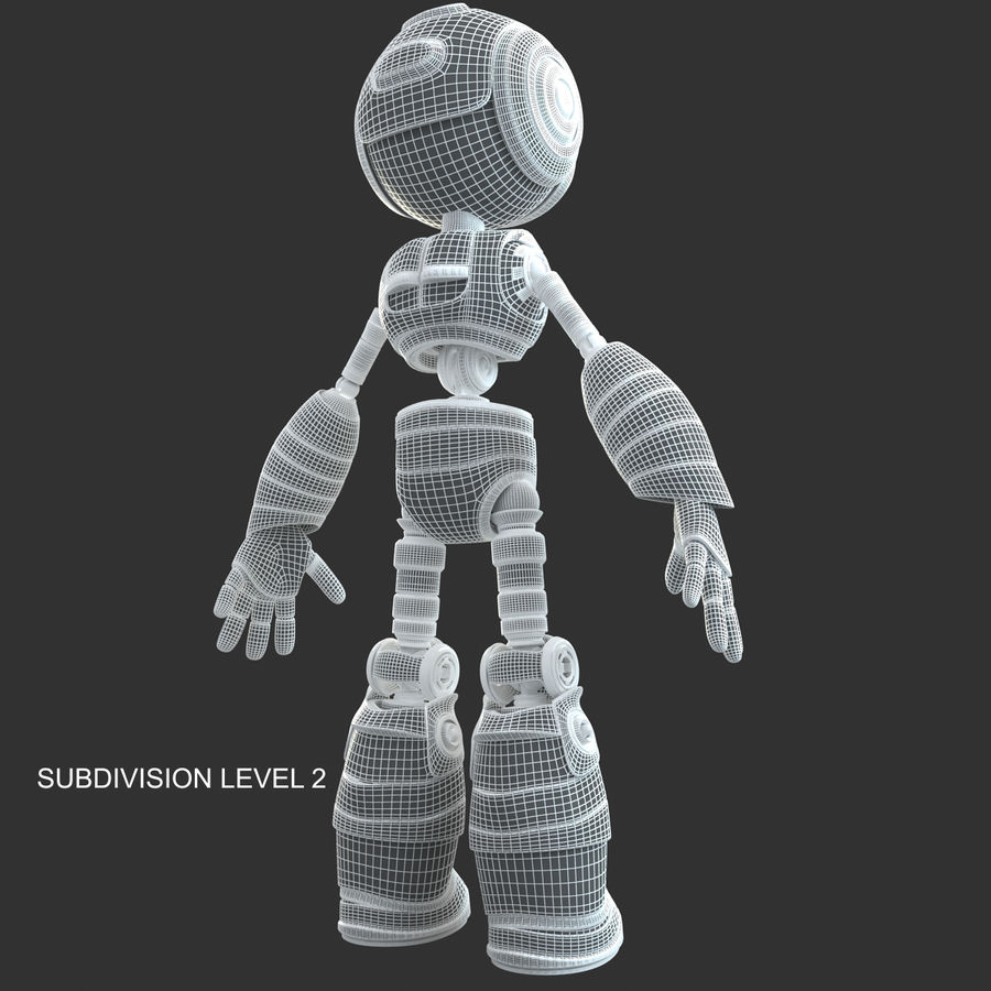 ロボットANDROID royalty-free 3d model - Preview no. 16