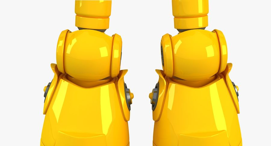 ロボットANDROID royalty-free 3d model - Preview no. 10
