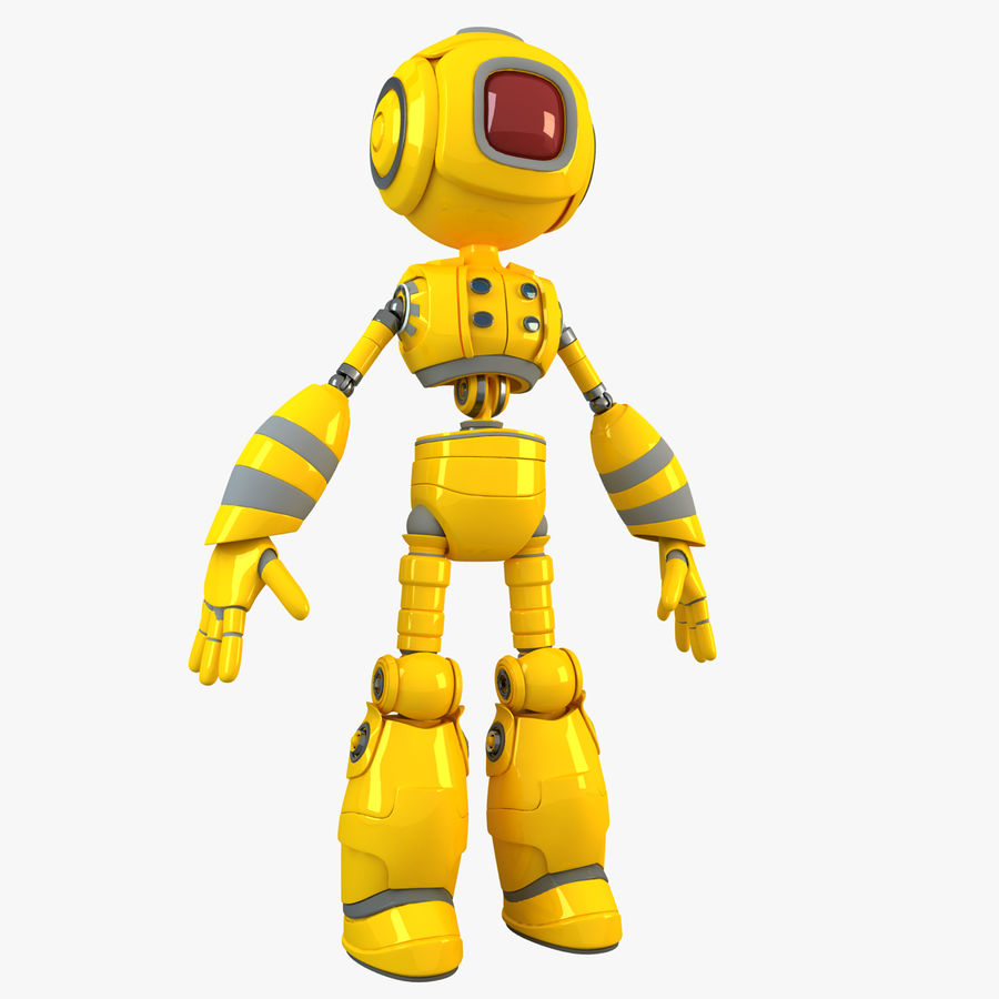 ロボットANDROID royalty-free 3d model - Preview no. 1