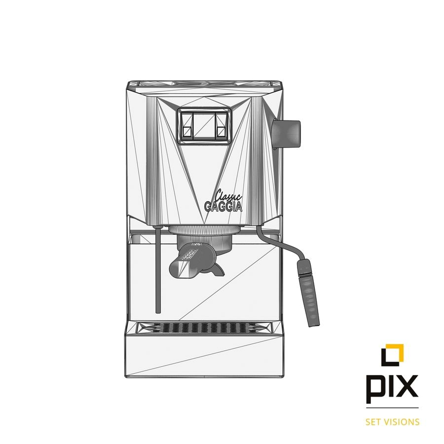Gaggia Classic Coffee Machine royalty-free 3d model - Preview no. 7