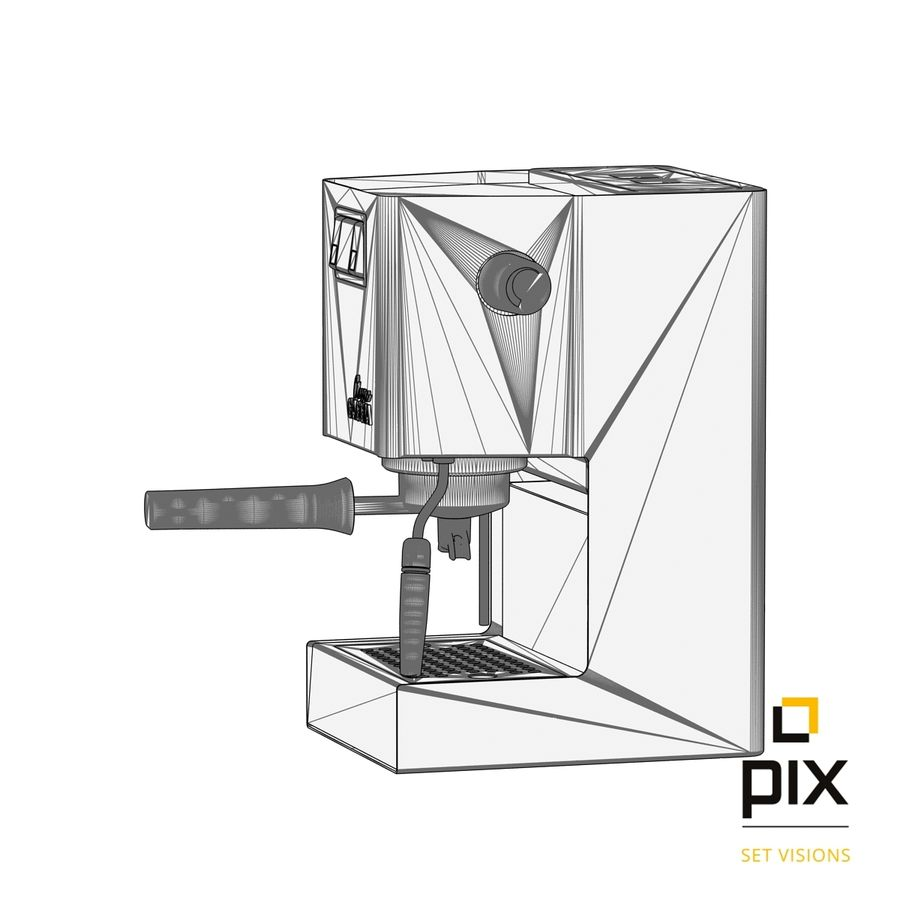 Gaggia Classic Coffee Machine royalty-free 3d model - Preview no. 8