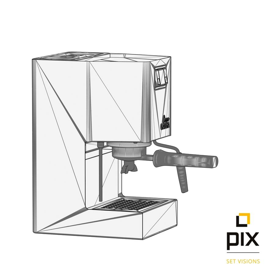 Gaggia Classic Coffee Machine royalty-free 3d model - Preview no. 11