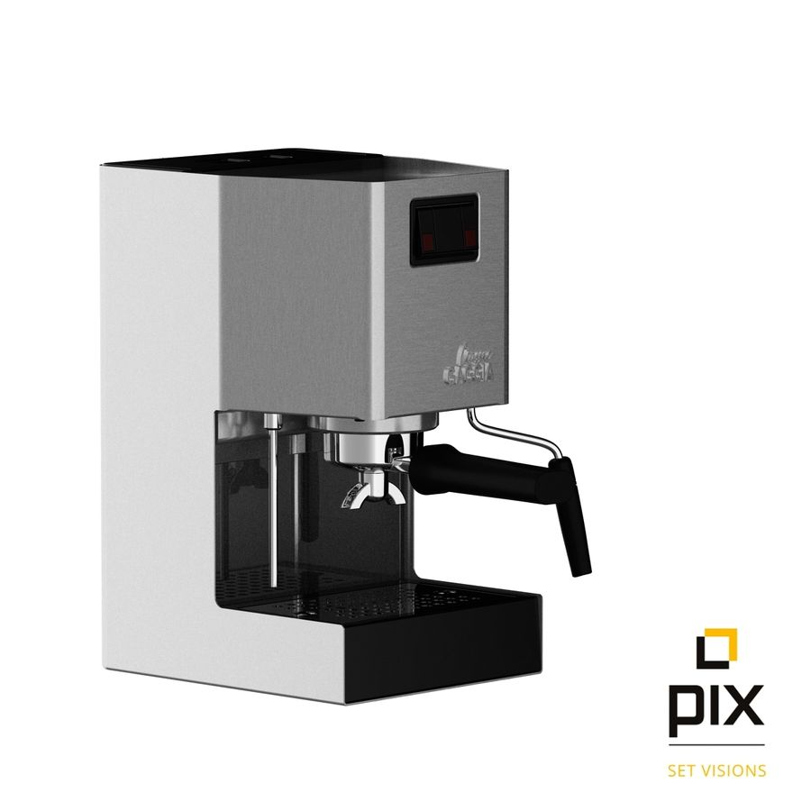 Gaggia Classic Coffee Machine royalty-free 3d model - Preview no. 6