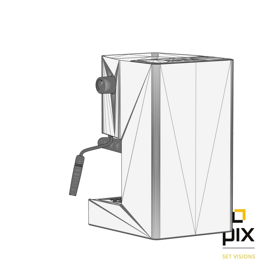 Gaggia Classic Coffee Machine royalty-free 3d model - Preview no. 9