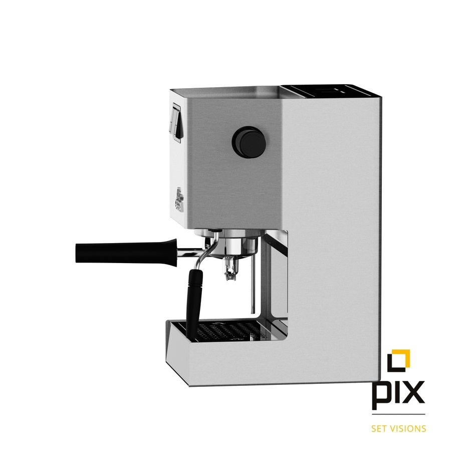 Gaggia Classic Coffee Machine royalty-free 3d model - Preview no. 3