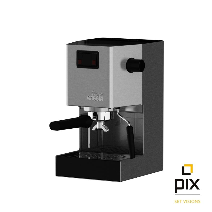 Gaggia Classic Coffee Machine royalty-free 3d model - Preview no. 2