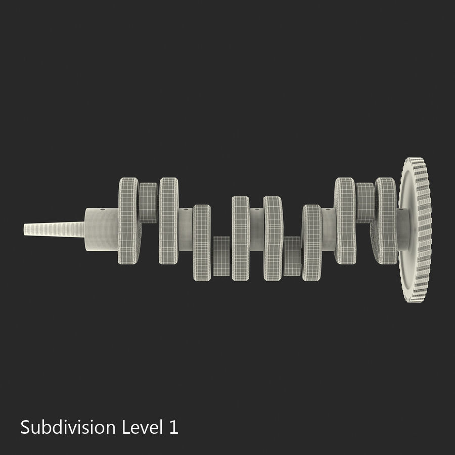 Crankshaft royalty-free 3d model - Preview no. 14