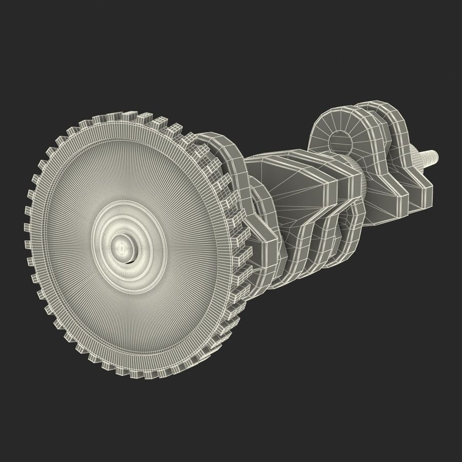 Crankshaft royalty-free 3d model - Preview no. 20