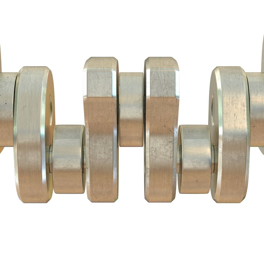 Crankshaft royalty-free 3d model - Preview no. 10