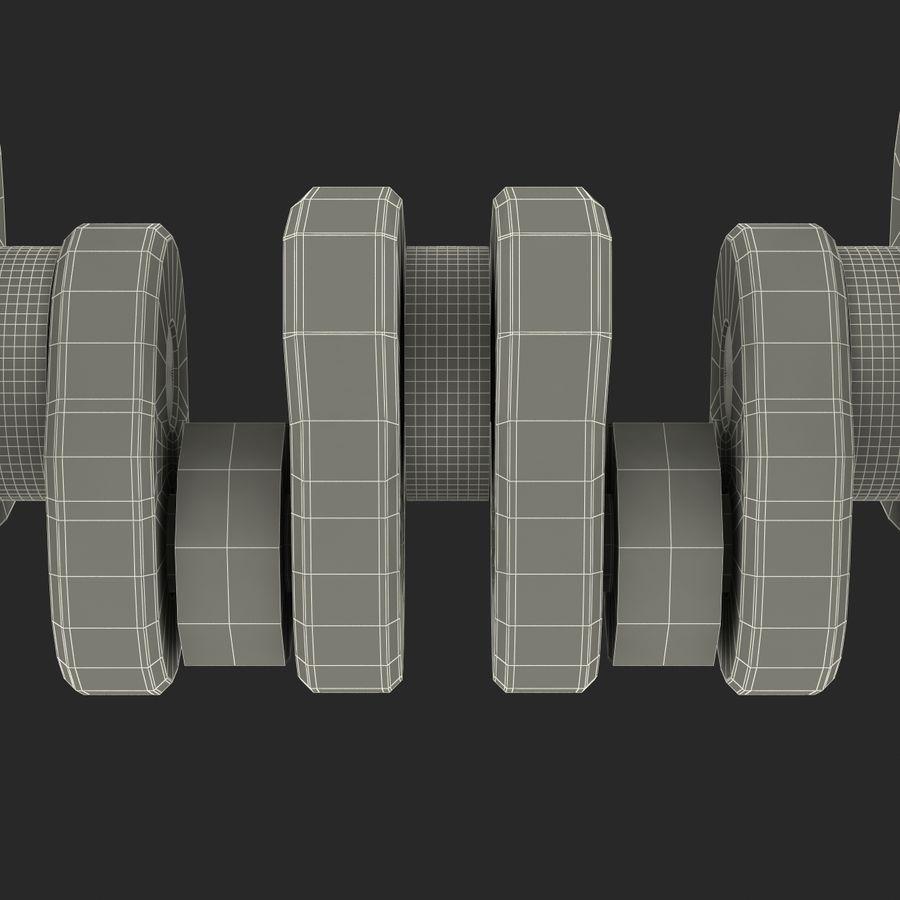 Crankshaft royalty-free 3d model - Preview no. 22