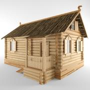 Dom z bali 3d model