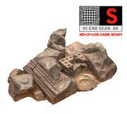 Alter roter Felsen 8K 3d model
