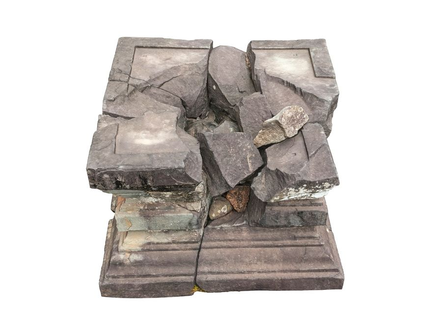 Ancient Broken Stone royalty-free 3d model - Preview no. 6
