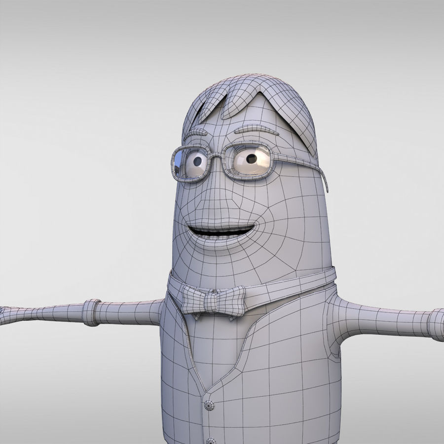 Cartoon Jason royalty-free 3d model - Preview no. 10
