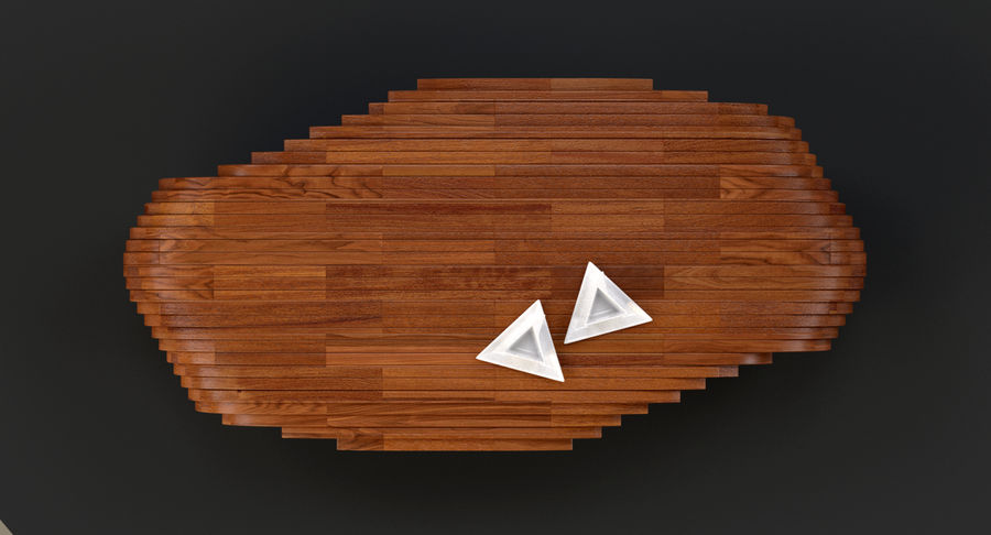 Mesa CB Coffee Table royalty-free 3d model - Preview no. 6