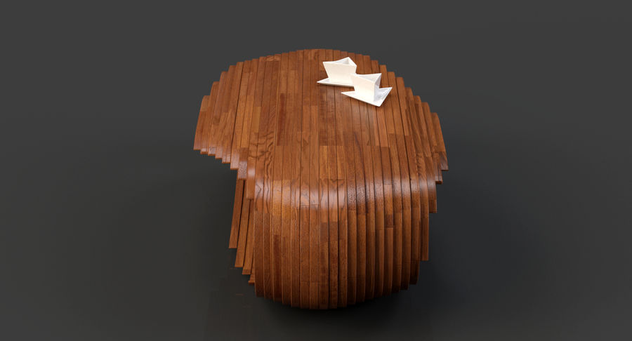 Mesa CB Coffee Table royalty-free 3d model - Preview no. 5