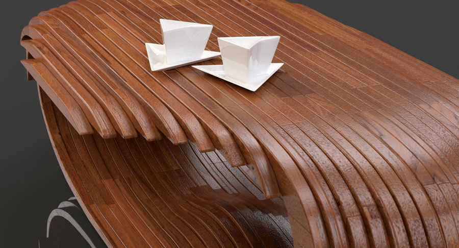 Mesa CB Coffee Table royalty-free 3d model - Preview no. 4