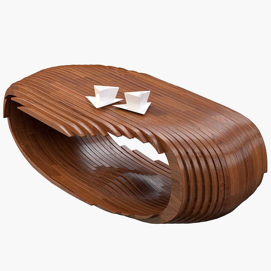 Mesa CB Coffee Table royalty-free 3d model - Preview no. 1