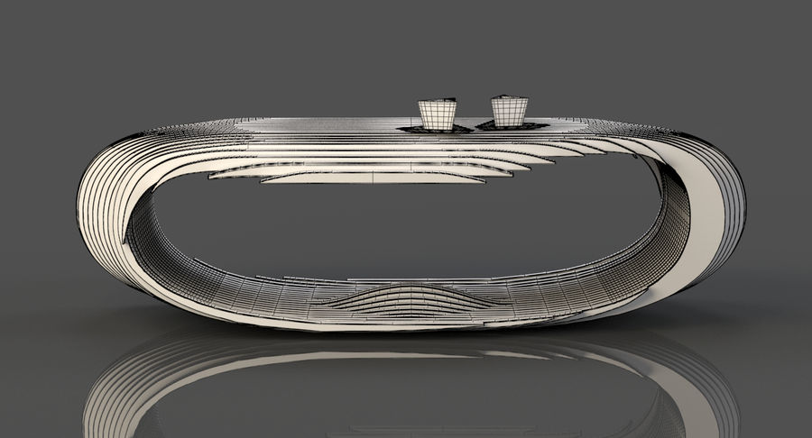 Mesa CB Coffee Table royalty-free 3d model - Preview no. 12