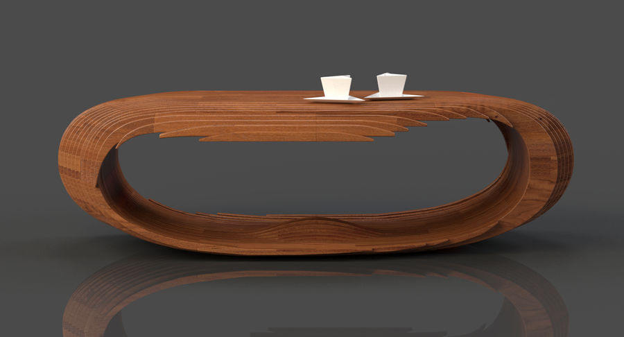 Mesa CB Coffee Table royalty-free 3d model - Preview no. 7