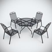 Mobiliário de metal para jardim 3d model