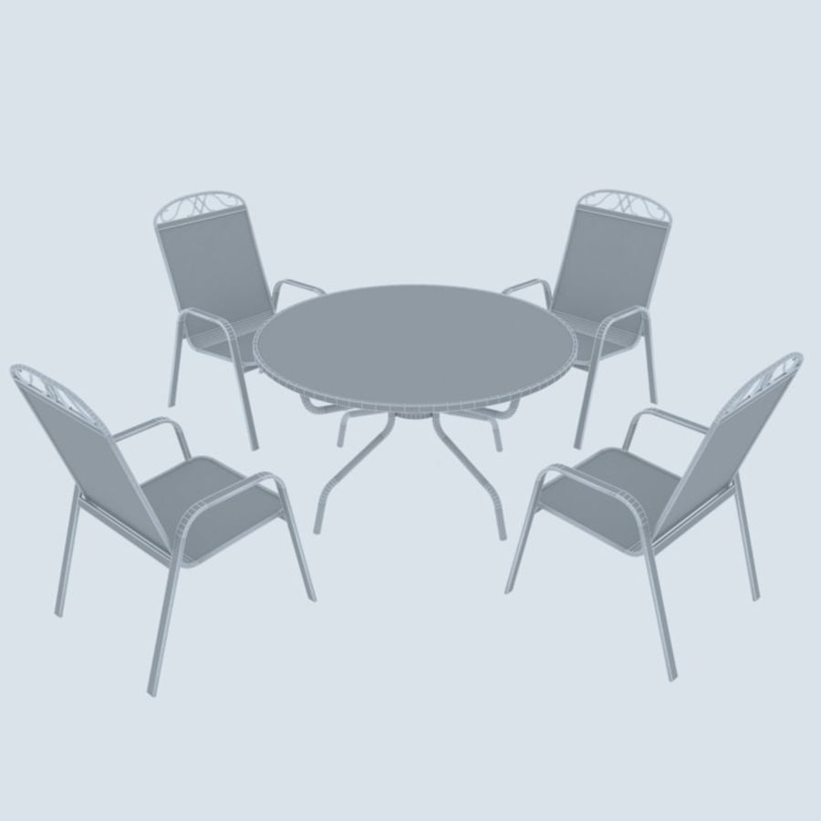 Garden Metal Furniture royalty-free 3d model - Preview no. 6