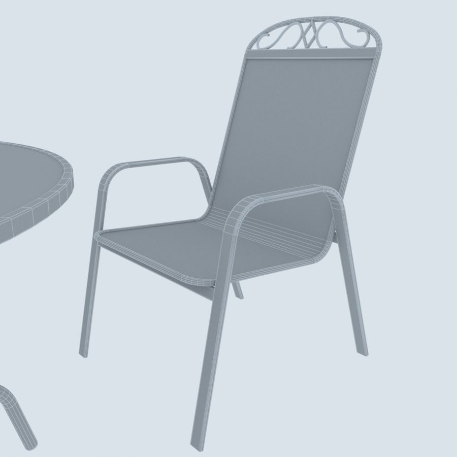 Garden Metal Furniture royalty-free 3d model - Preview no. 7