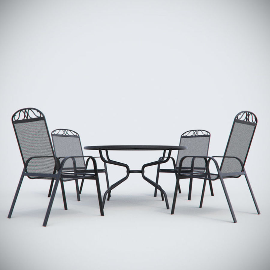 Garden Metal Furniture royalty-free 3d model - Preview no. 4