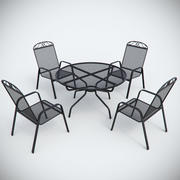 Garden Metal Furniture 3d model