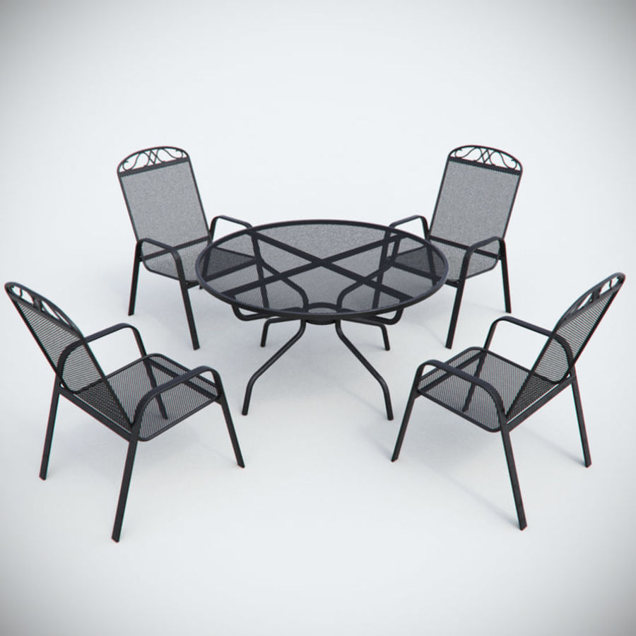 Garden Metal Furniture royalty-free 3d model - Preview no. 1