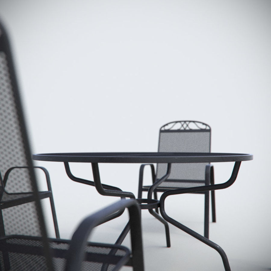 Garden Metal Furniture royalty-free 3d model - Preview no. 5