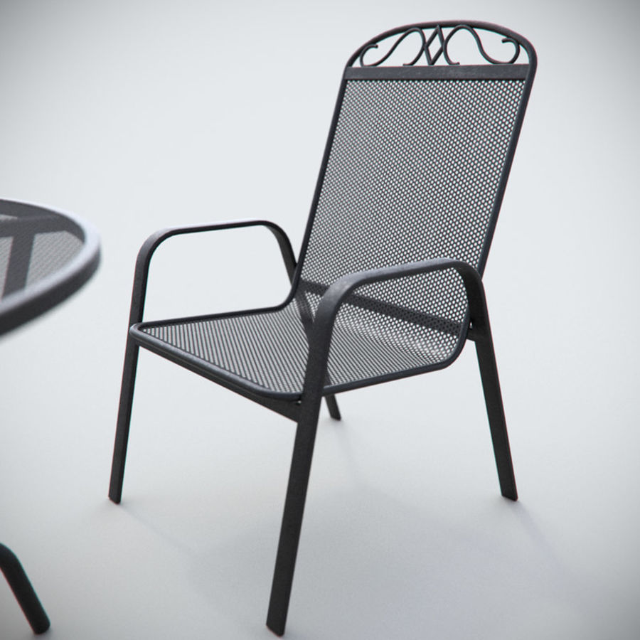 Garden Metal Furniture royalty-free 3d model - Preview no. 2
