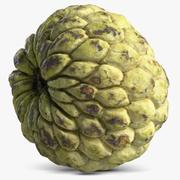 Cherimoya, pinha, maçã 3d model