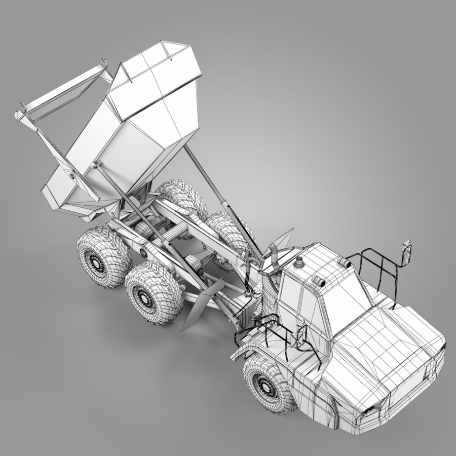 Sattelzugmaschine royalty-free 3d model - Preview no. 15