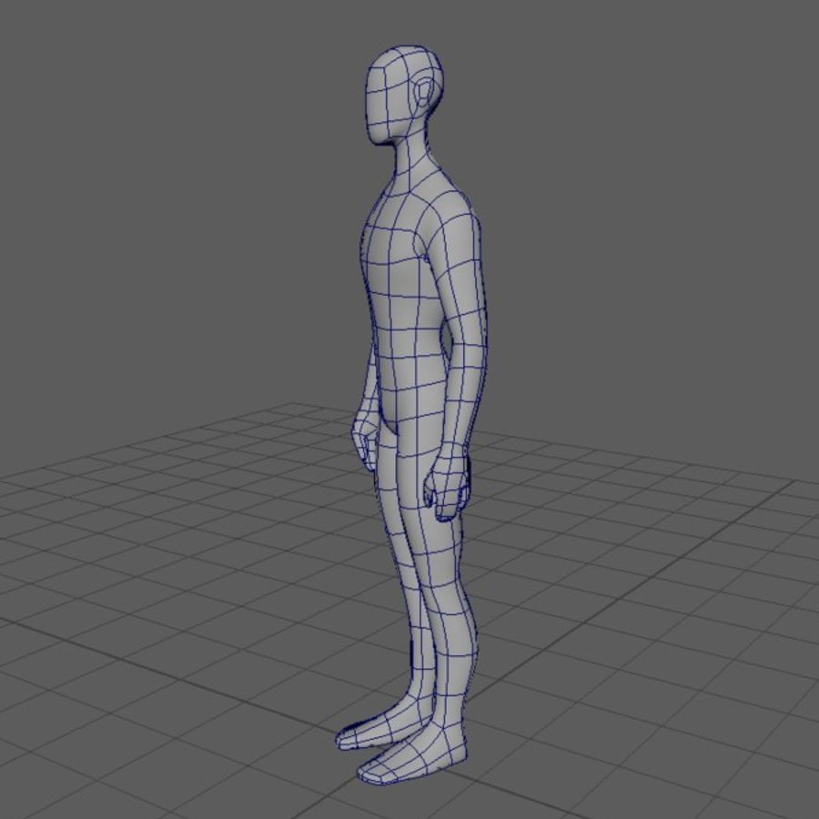 Grundläggande MAN royalty-free 3d model - Preview no. 3