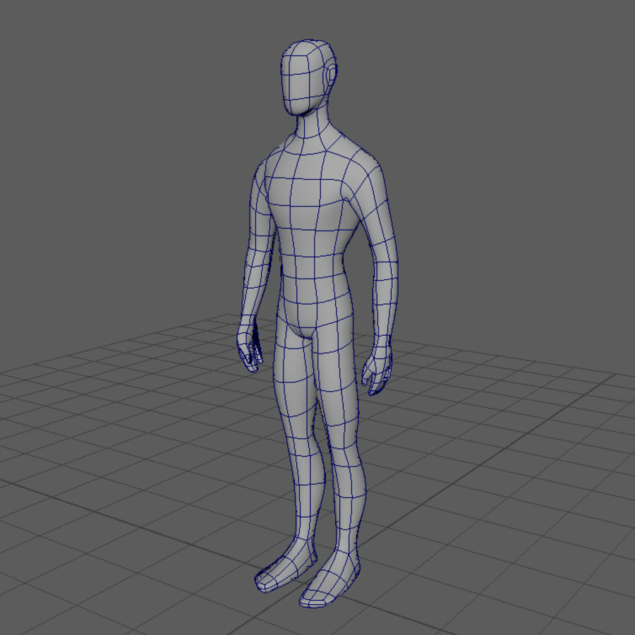 Grundläggande MAN royalty-free 3d model - Preview no. 2