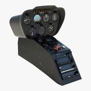 Pannello di controllo dell'elicottero leggero 2 3d model