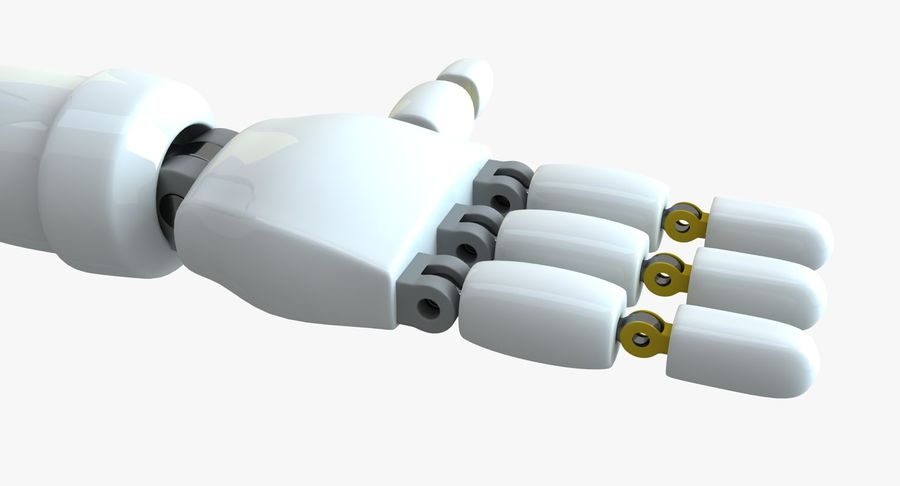 Scifi Robot(1) royalty-free 3d model - Preview no. 9