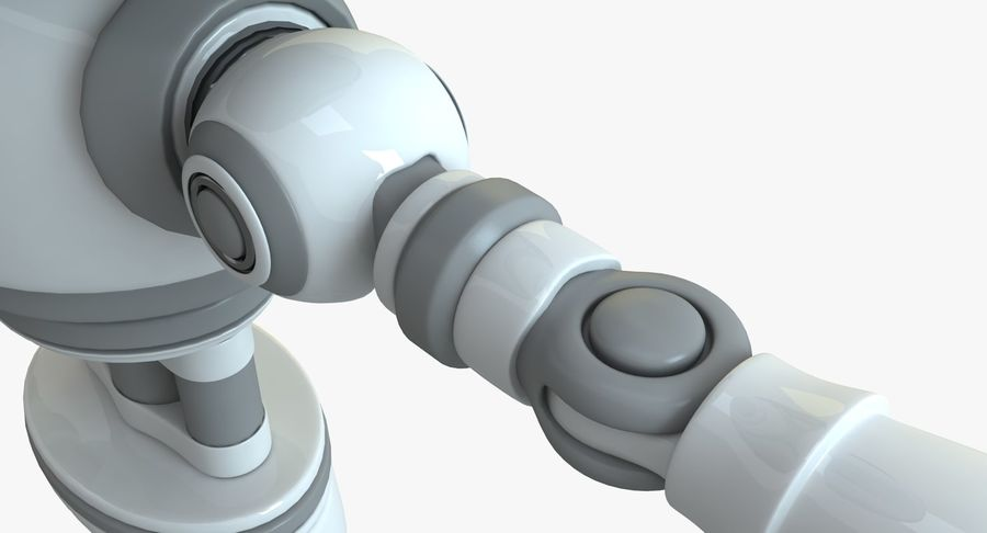 Scifi Robot(1) royalty-free 3d model - Preview no. 7