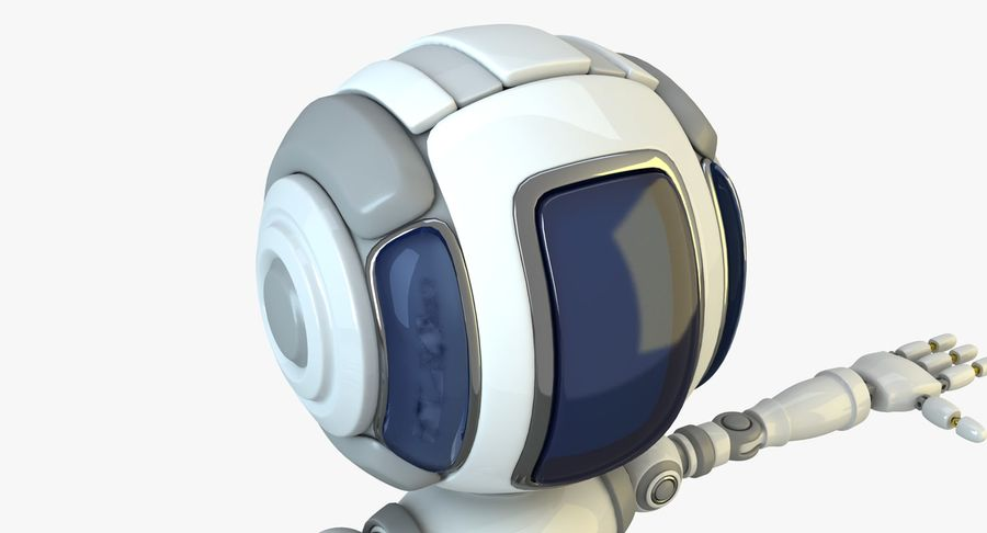 Scifi Robot(1) royalty-free 3d model - Preview no. 4