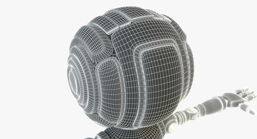 Scifi Robot(1) royalty-free 3d model - Preview no. 16