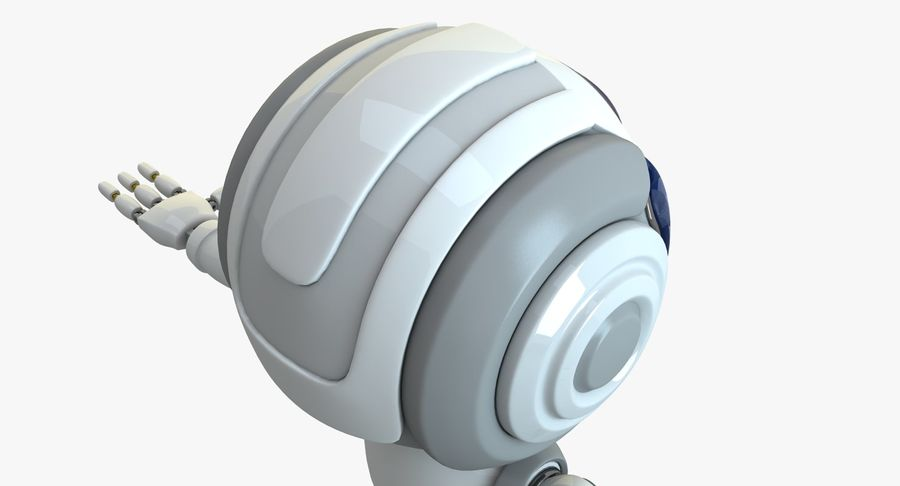 Scifi Robot(1) royalty-free 3d model - Preview no. 6
