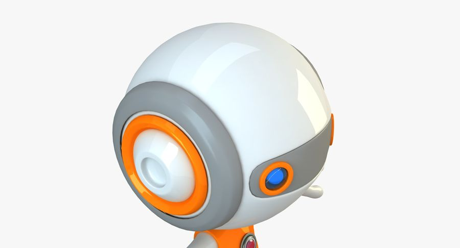 Super hero Robot royalty-free 3d model - Preview no. 15