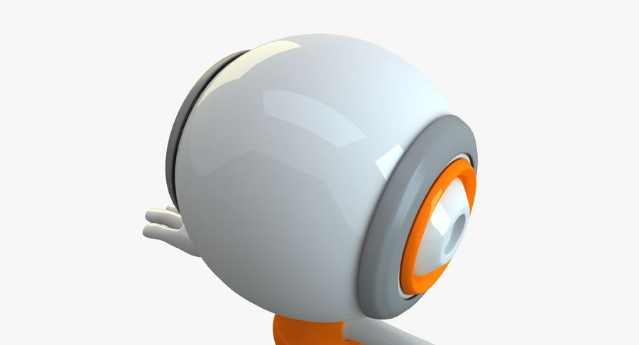 Super hero Robot royalty-free 3d model - Preview no. 17